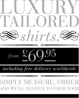 Finicky Shirts create outstanding quality bespoke shirts using the best fabrics from around the world at exceptional prices. We provide our customers with the luxury of having their own world class tailor at their fingertips.